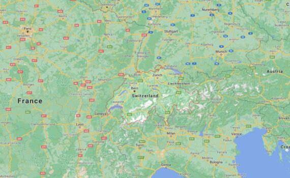 Switzerland Border Countries Map