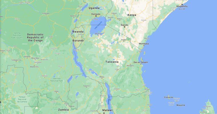 Tanzania Border Countries Map