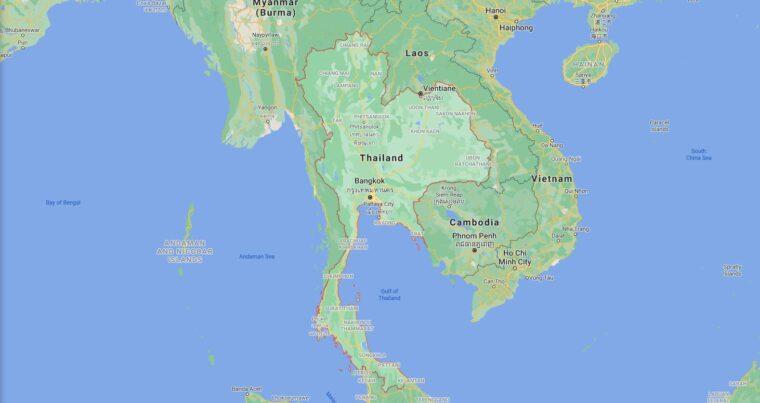 Thailand Border Countries Map