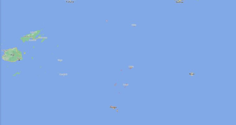 Tonga Border Countries Map