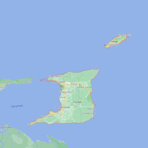 Trinidad and Tobago Border Countries Map