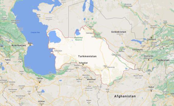 Turkmenistan Border Countries Map