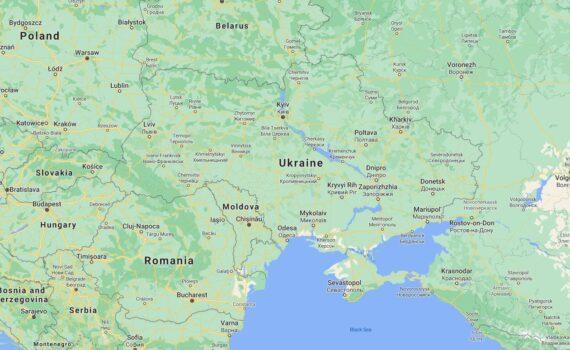 Ukraine Border Countries Map