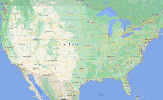 United States Border Countries Map