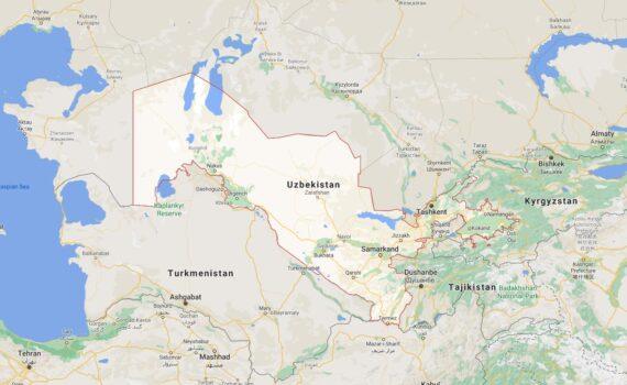 Uzbekistan Border Countries Map