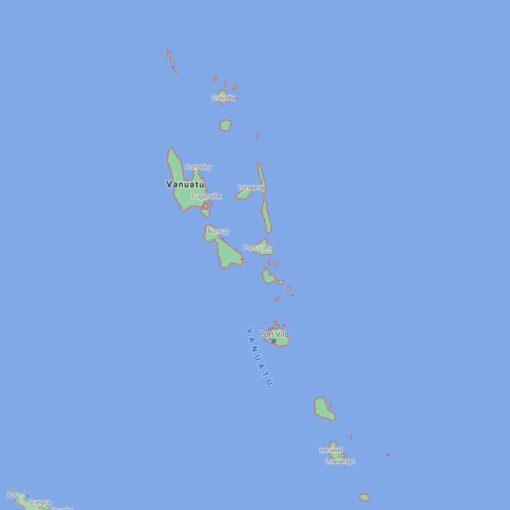 Vanuatu Border Countries Map