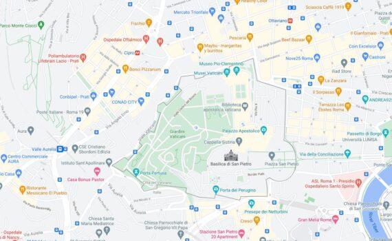 Vatican City Border Countries Map