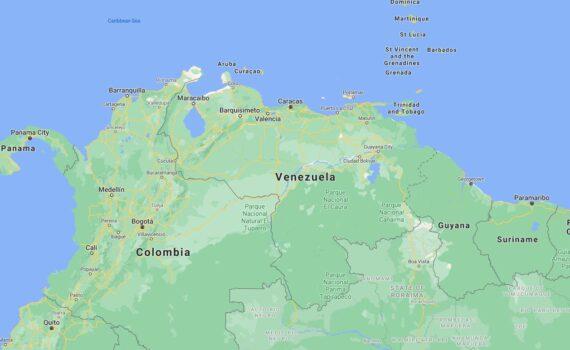 Venezuela Border Countries Map