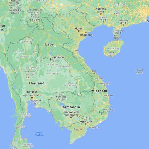 Vietnam Border Countries Map