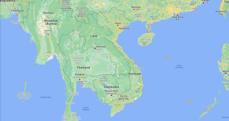 Vietnam Border Countries Map