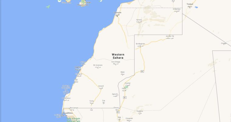 Western Sahara Border Countries Map
