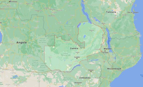 Zambia Border Countries Map