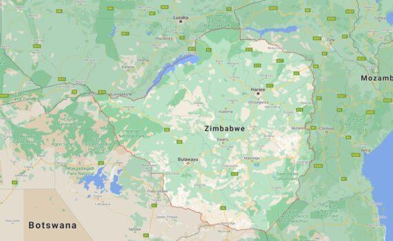 Zimbabwe Border Countries Map